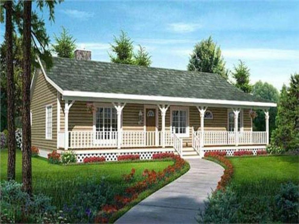 Ranch Style House Plan Front Porch Ideas - House Plans | #9
