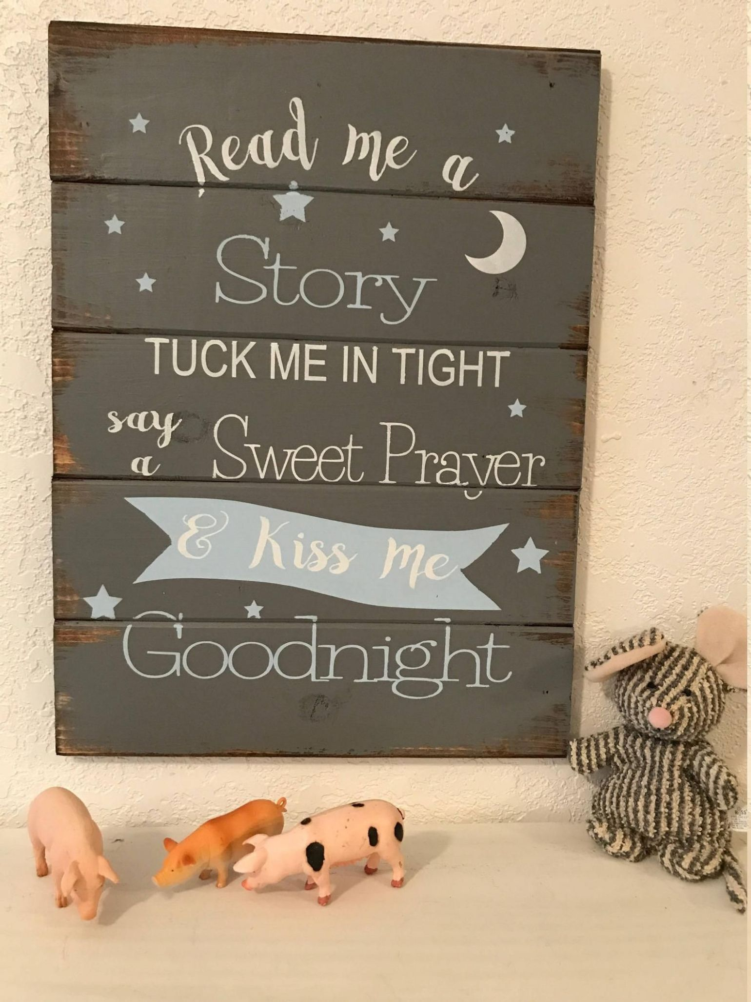 Read Me A Story, Tuck Me In Tight Sign, Nursery Sign, Baby Decor ..