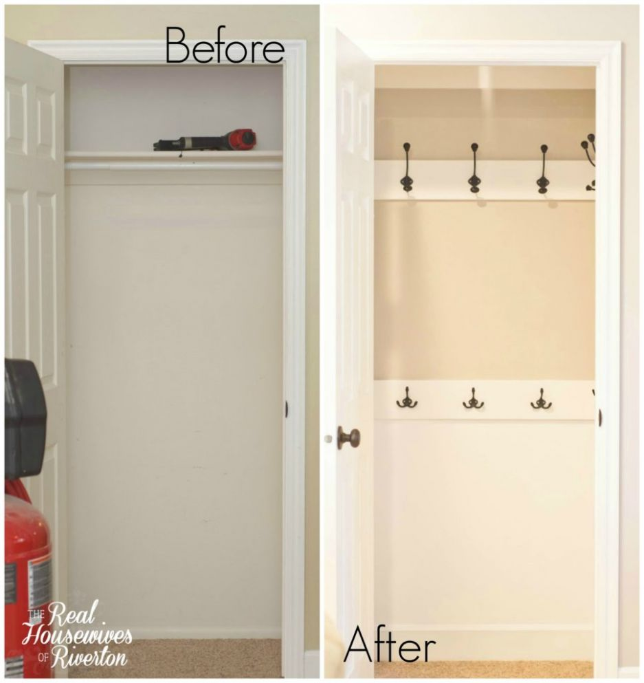 Reclaim Your Closets: 12 Brilliant Hall Closet Organization Ideas - closet hook ideas