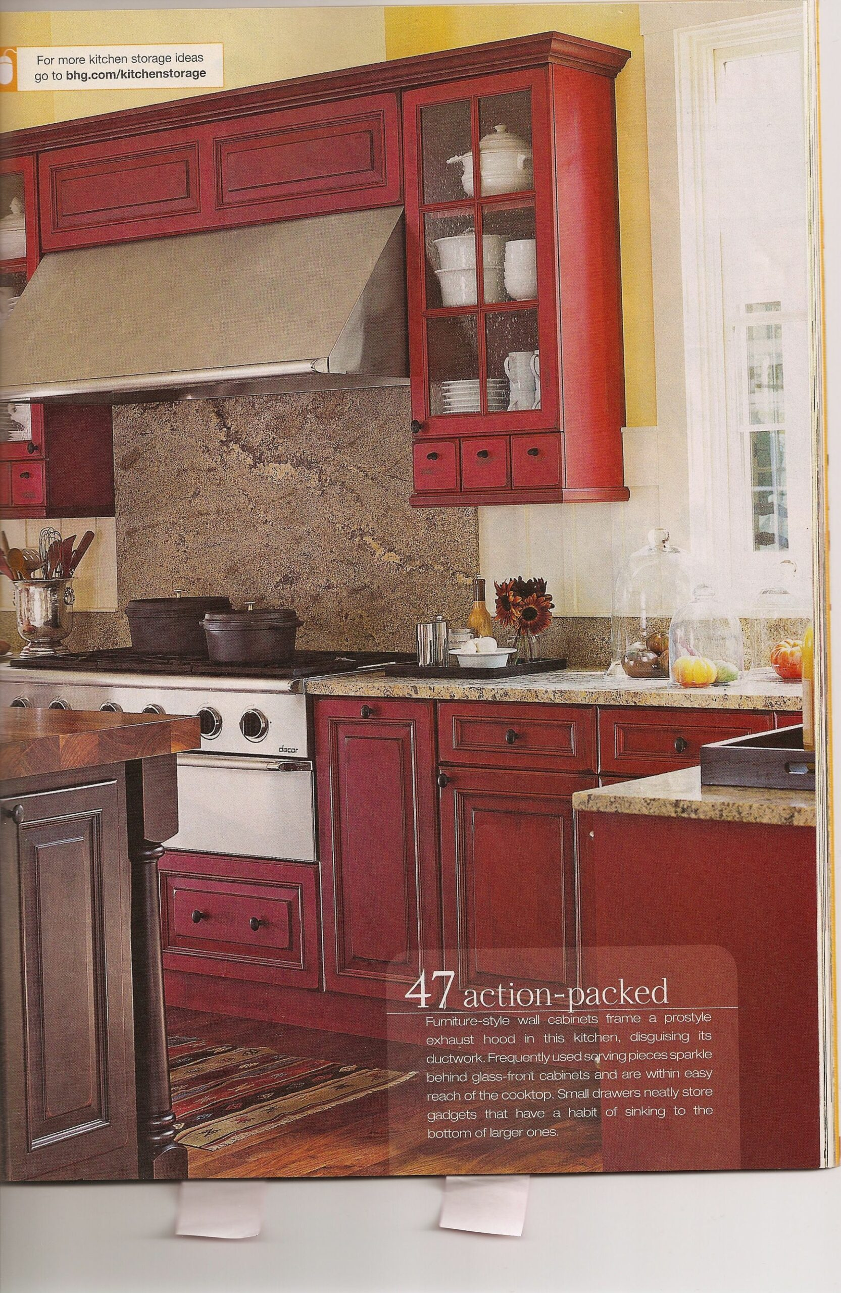 Red and Yellow Kitchen Ideas | Red Kitchen (With images) | Trendy ...