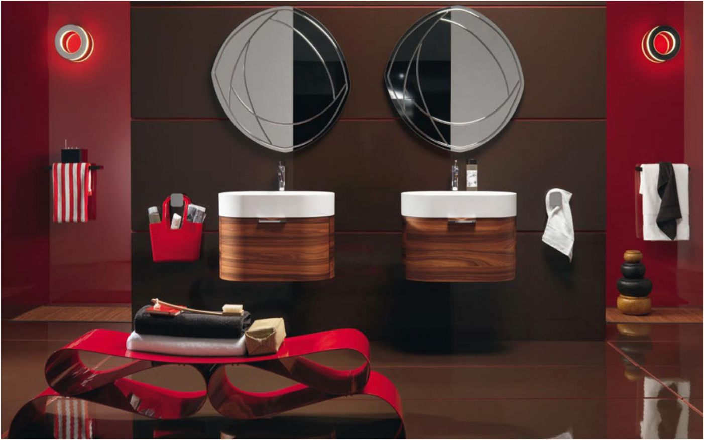 Red Black And Gray Bathroom Sets Decorations Style White Bathrooms ...