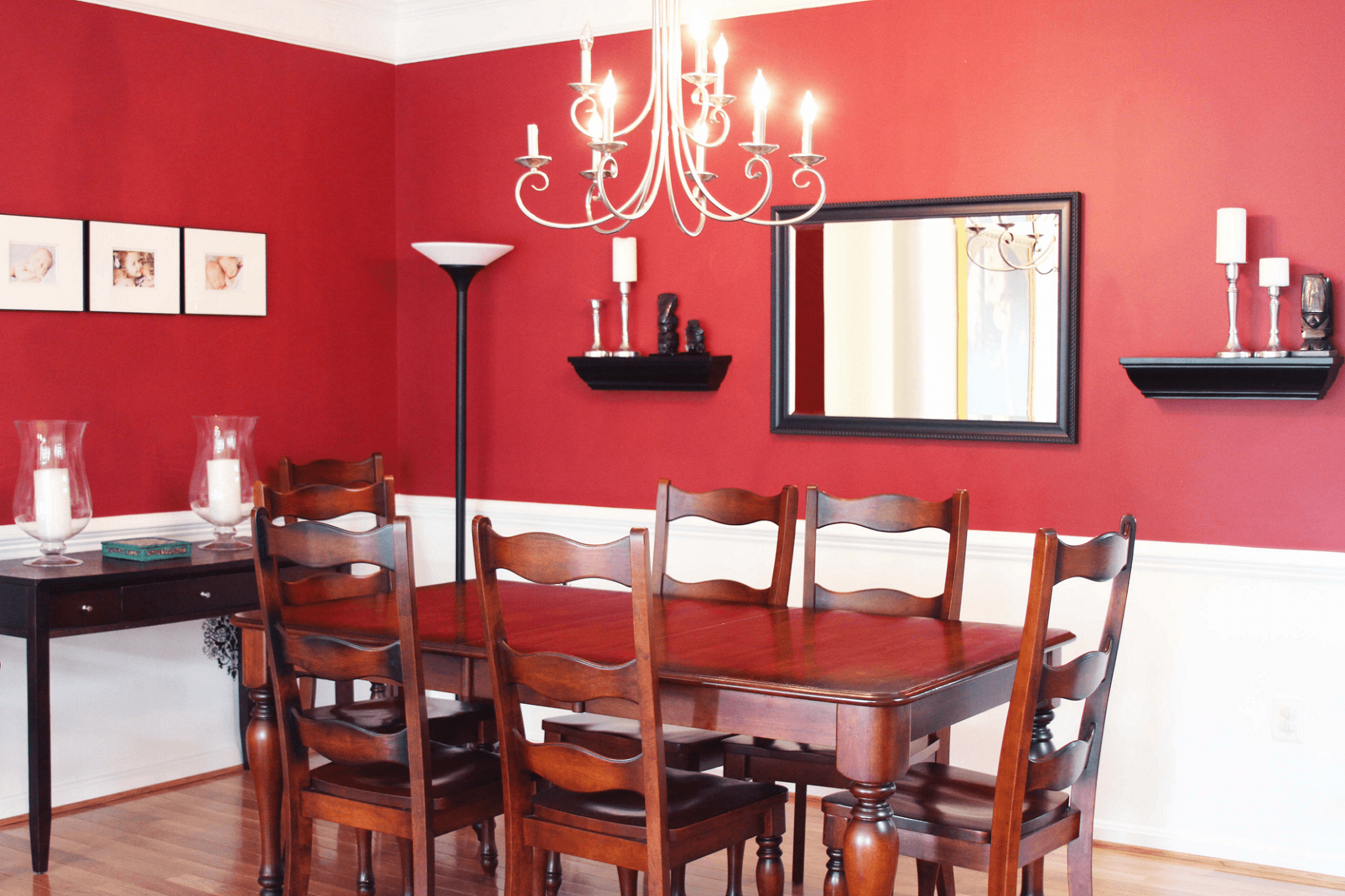Red Painting Traditional dining room wall decor – EasyHomeTips