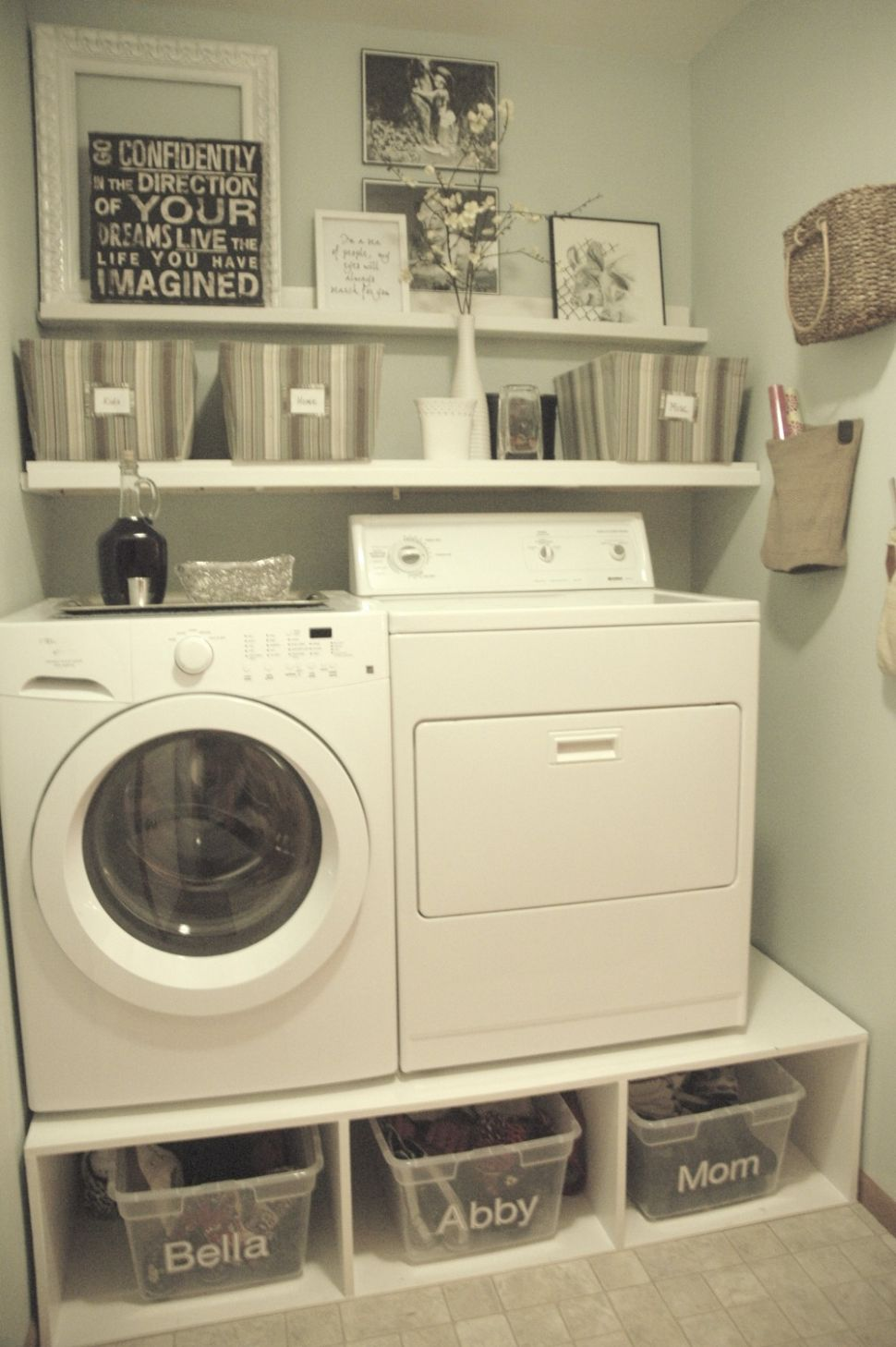 Remodelaholic | 12+ Ideas for Small Laundry Spaces - mudroom laundry room makeover ideas