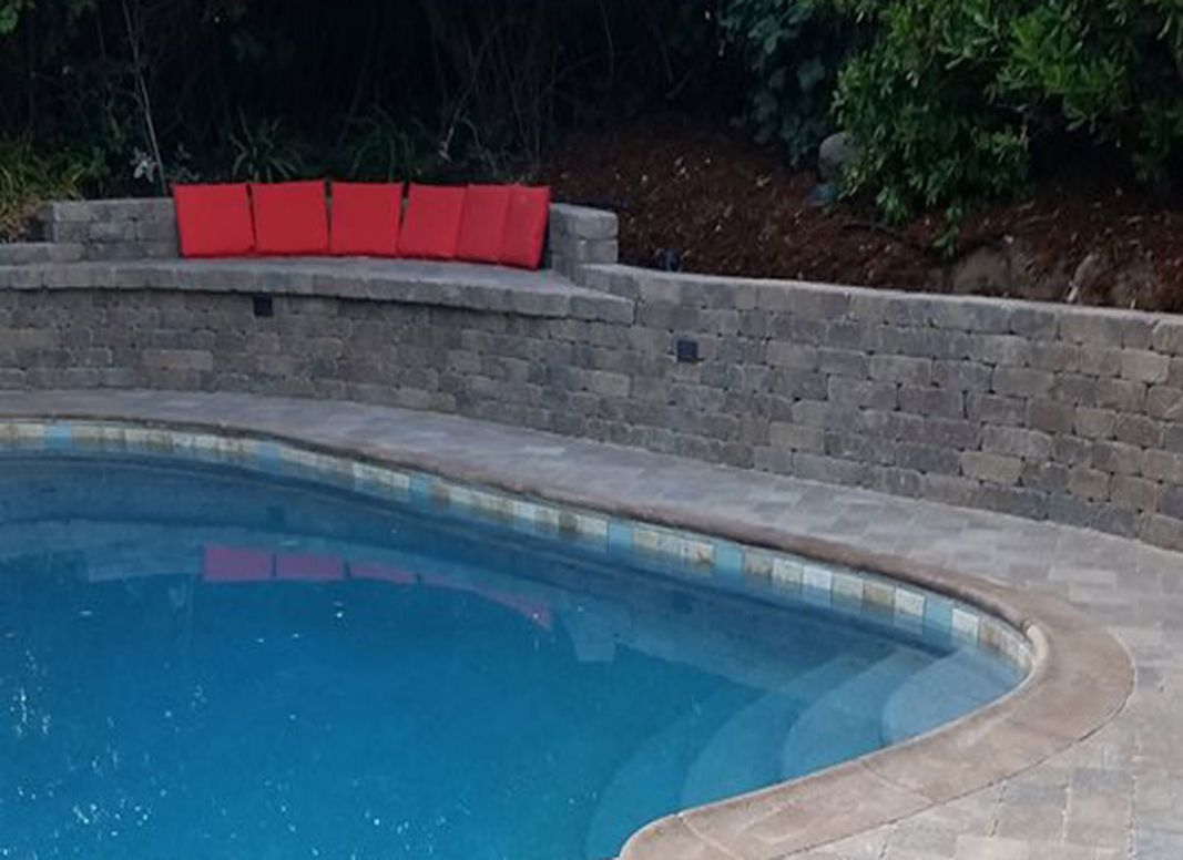 Retaining Walls and Steps - Legacy Pavers - pool ideas with retaining wall