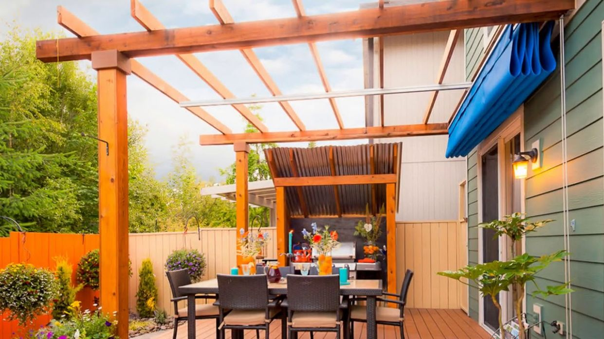 Retractable Patio Awning at Home Ideas - YouTube - balcony awning ideas