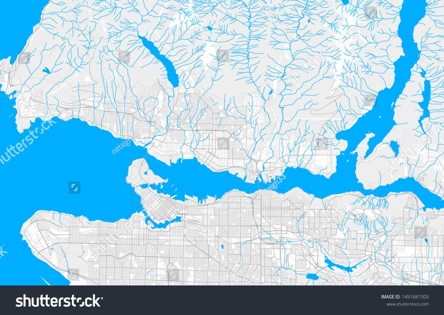 Rich Detailed Vector Area Map North Stock Vector (Royalty Free ...