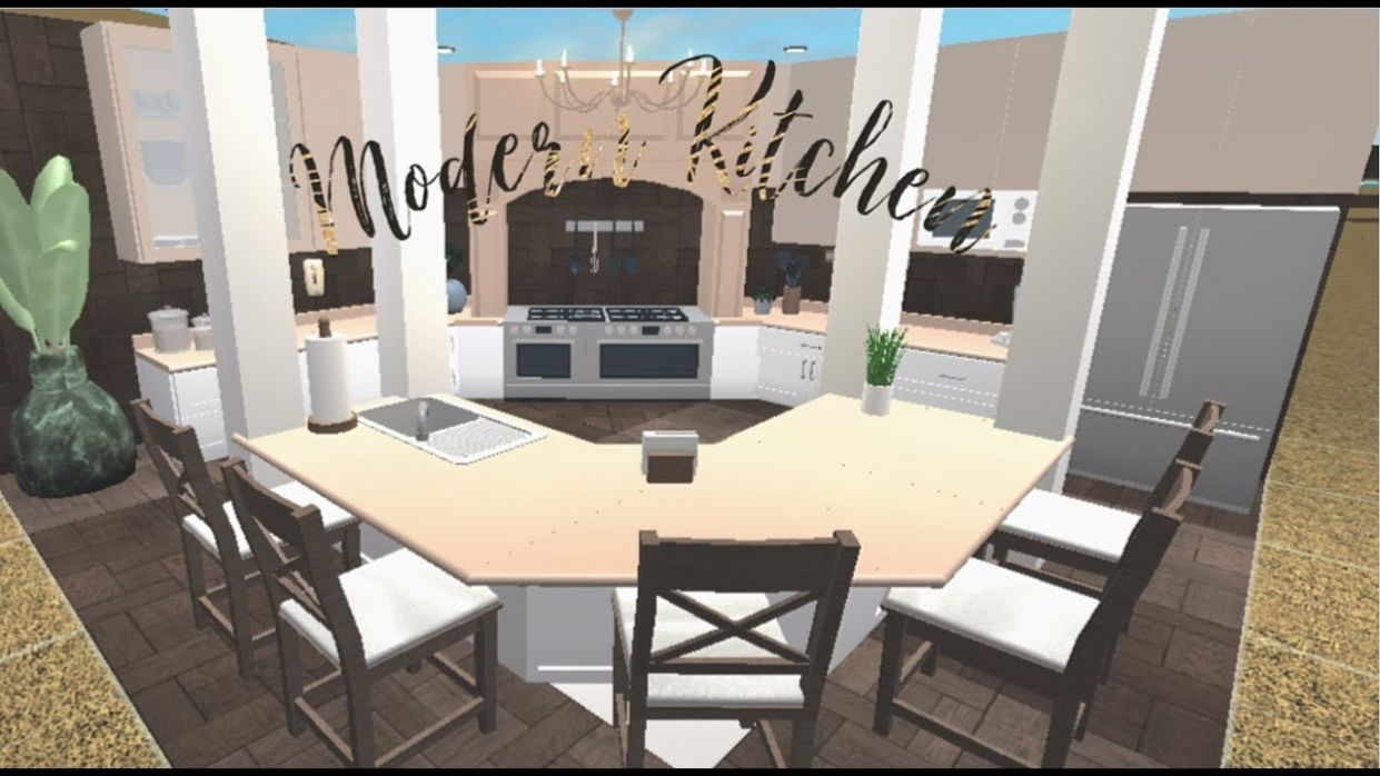 Roblox || Bloxburg: Modern Kitchen Speed build!