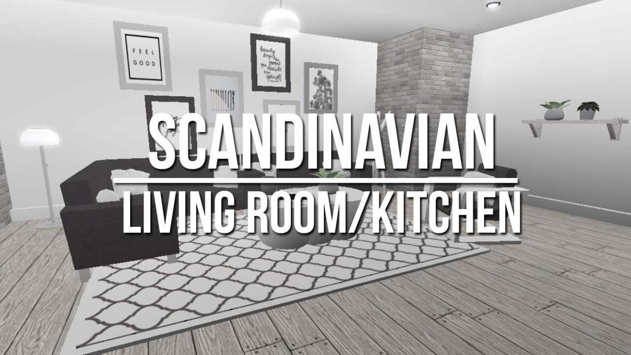 ROBLOX | Welcome to Bloxburg: Scandinavian Living Room/Kitchen 11k - living room ideas bloxburg