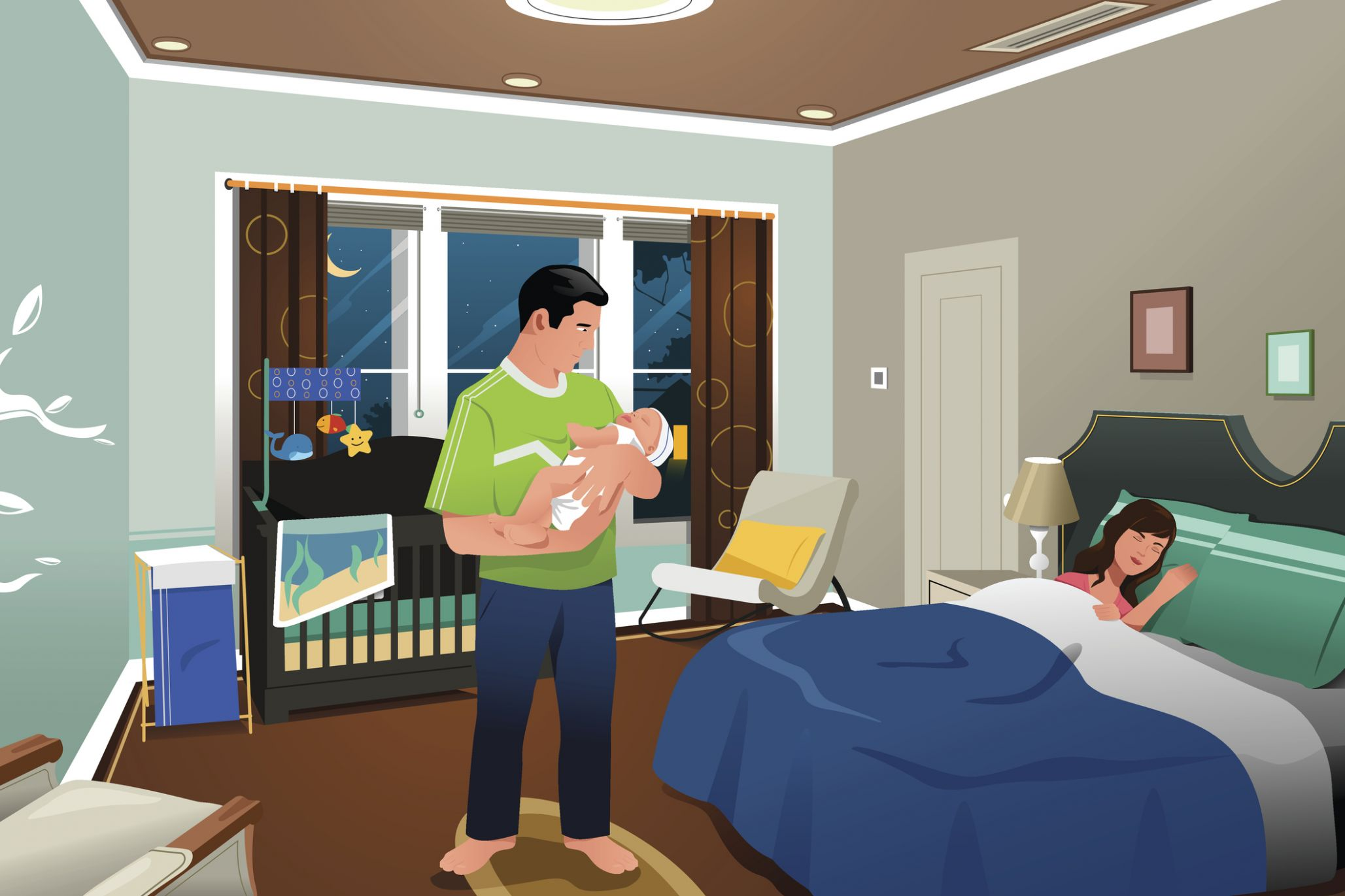 Room sharing with your baby may help prevent SIDS—but it means ..