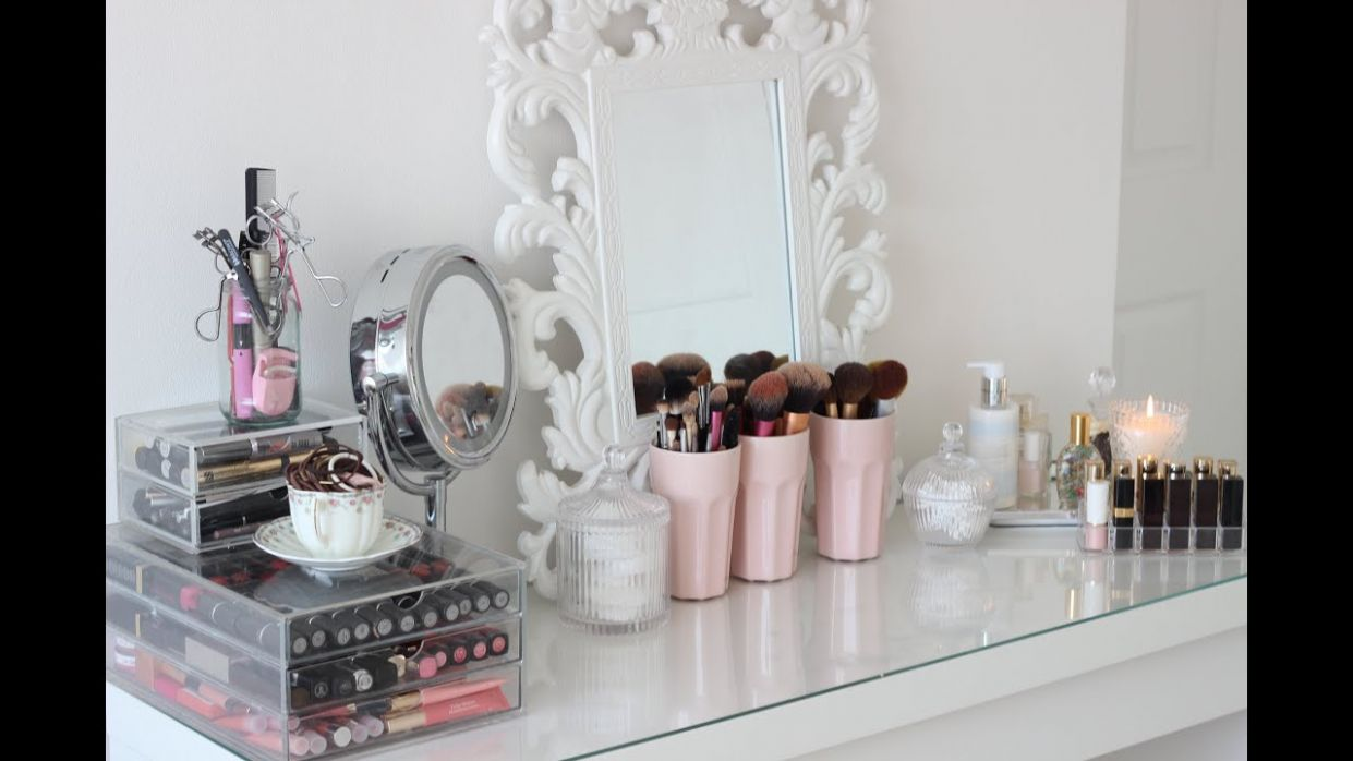 Room Tour, Malm Dressing Table and Make Up Collection - makeup room table