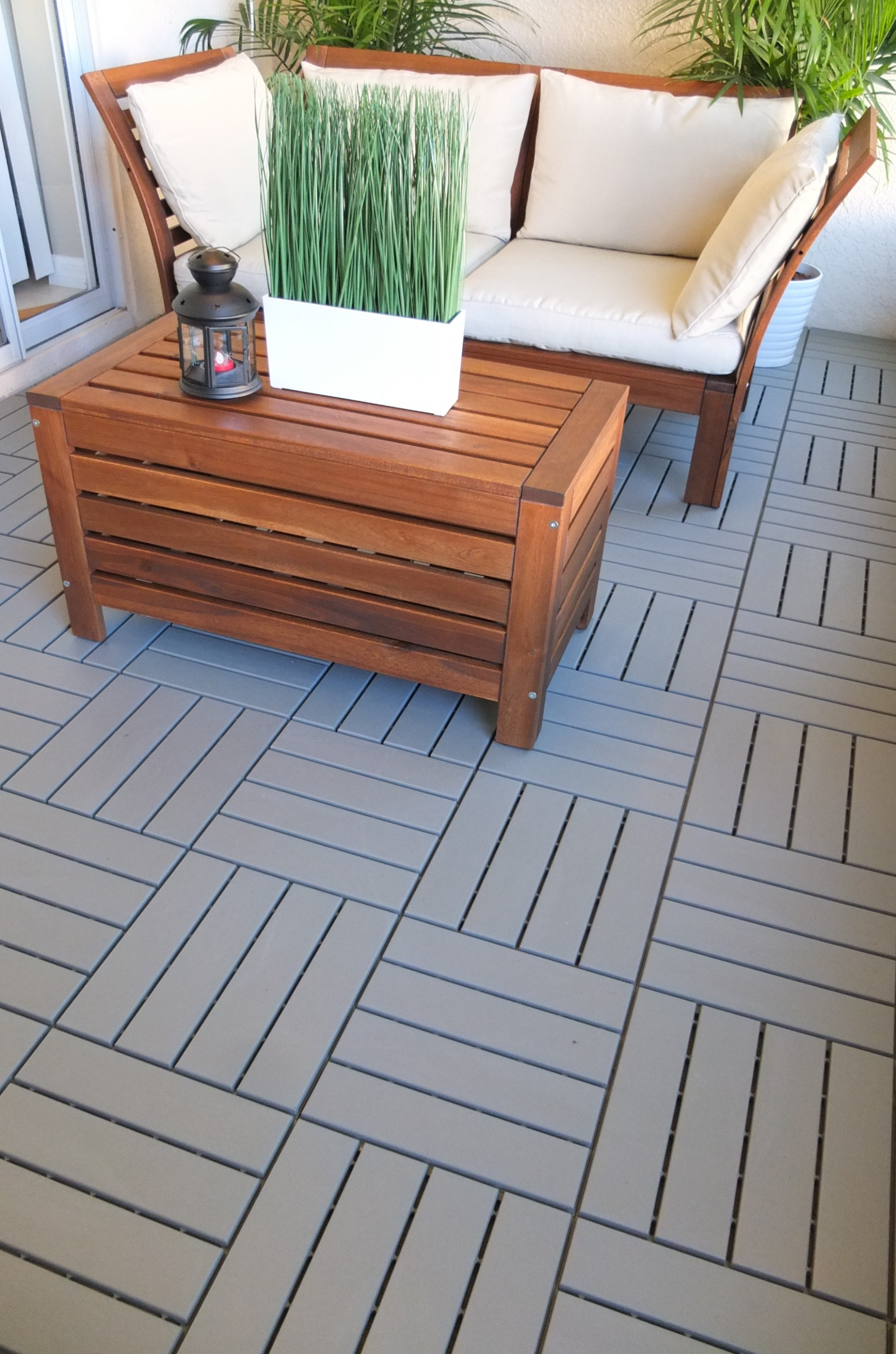 RUNNEN Decking, outdoor - gray 9 sq feet (With images) | Patio ...