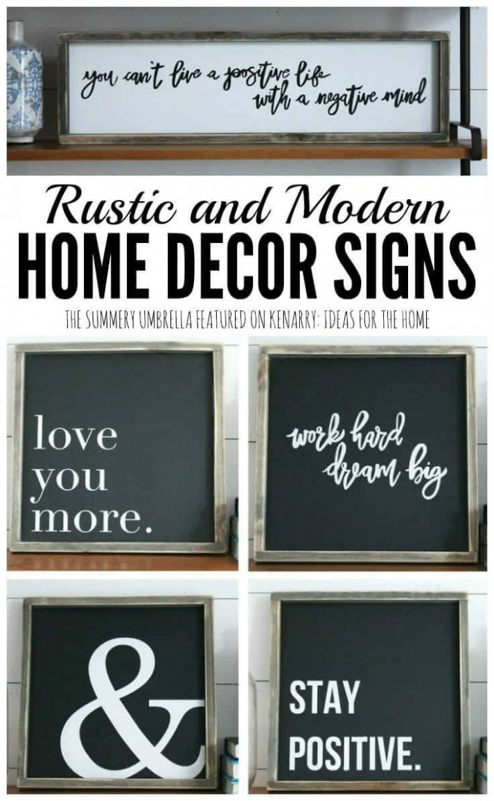 Rustic and Modern Home Decor Signs (With images) | Home decor ..