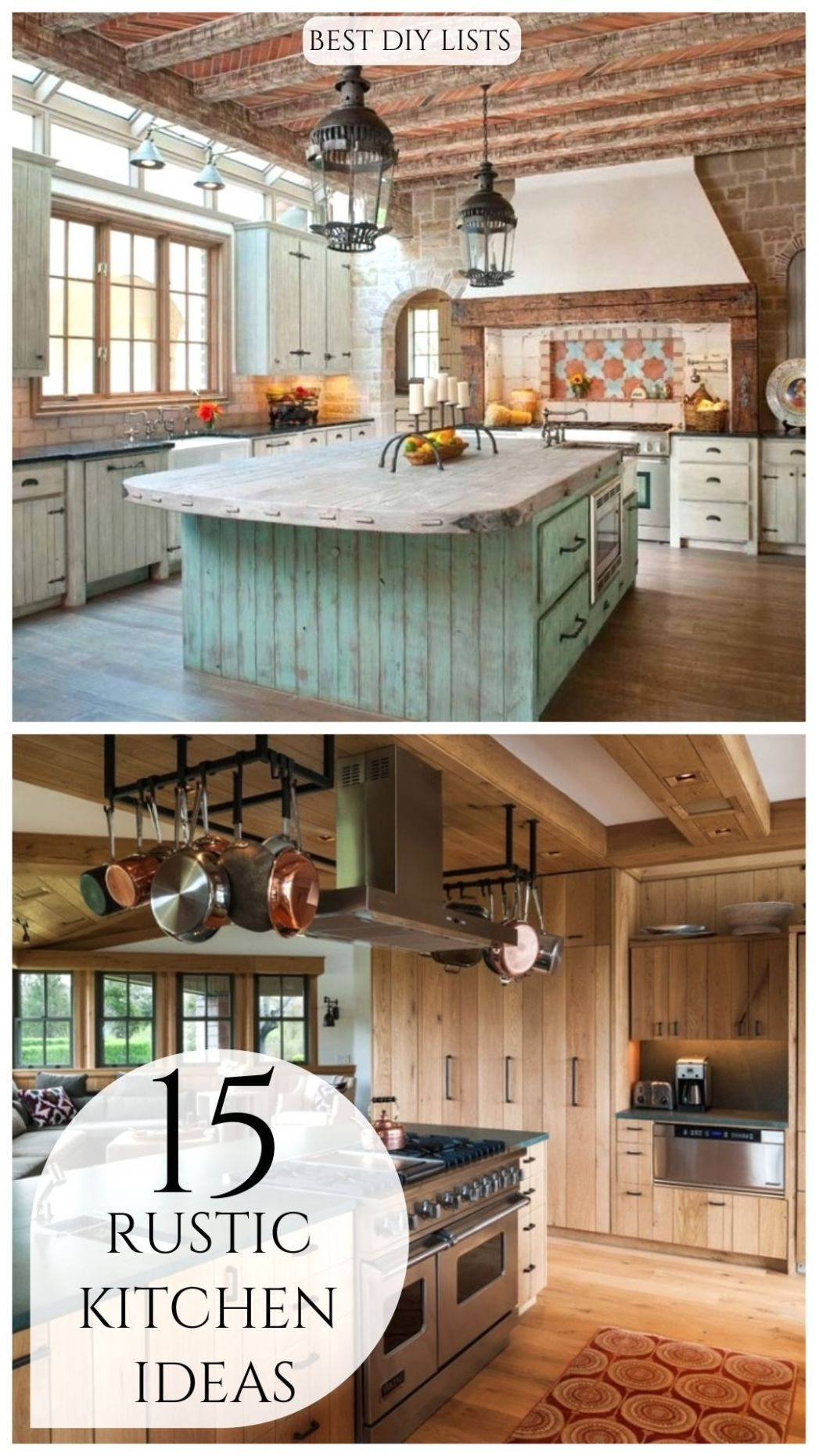 Rustic Kitchen Ideas in 11 | Rustic kitchen decor, Rustic ..