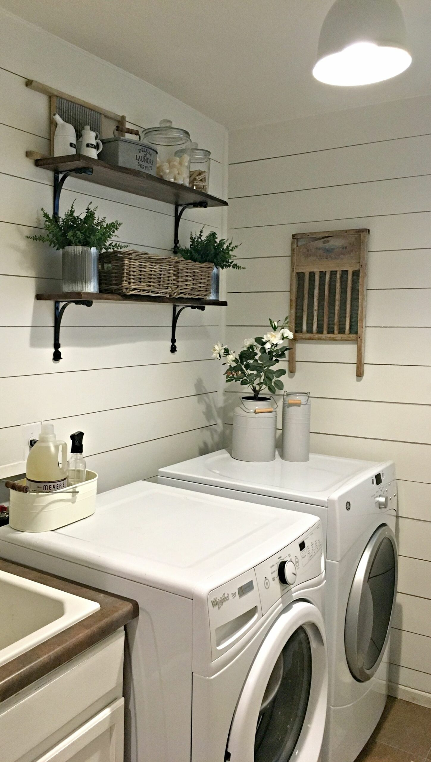 Rustic Laundry Room Reveal - Farmhouse Blooms - laundry room ideas with shiplap
