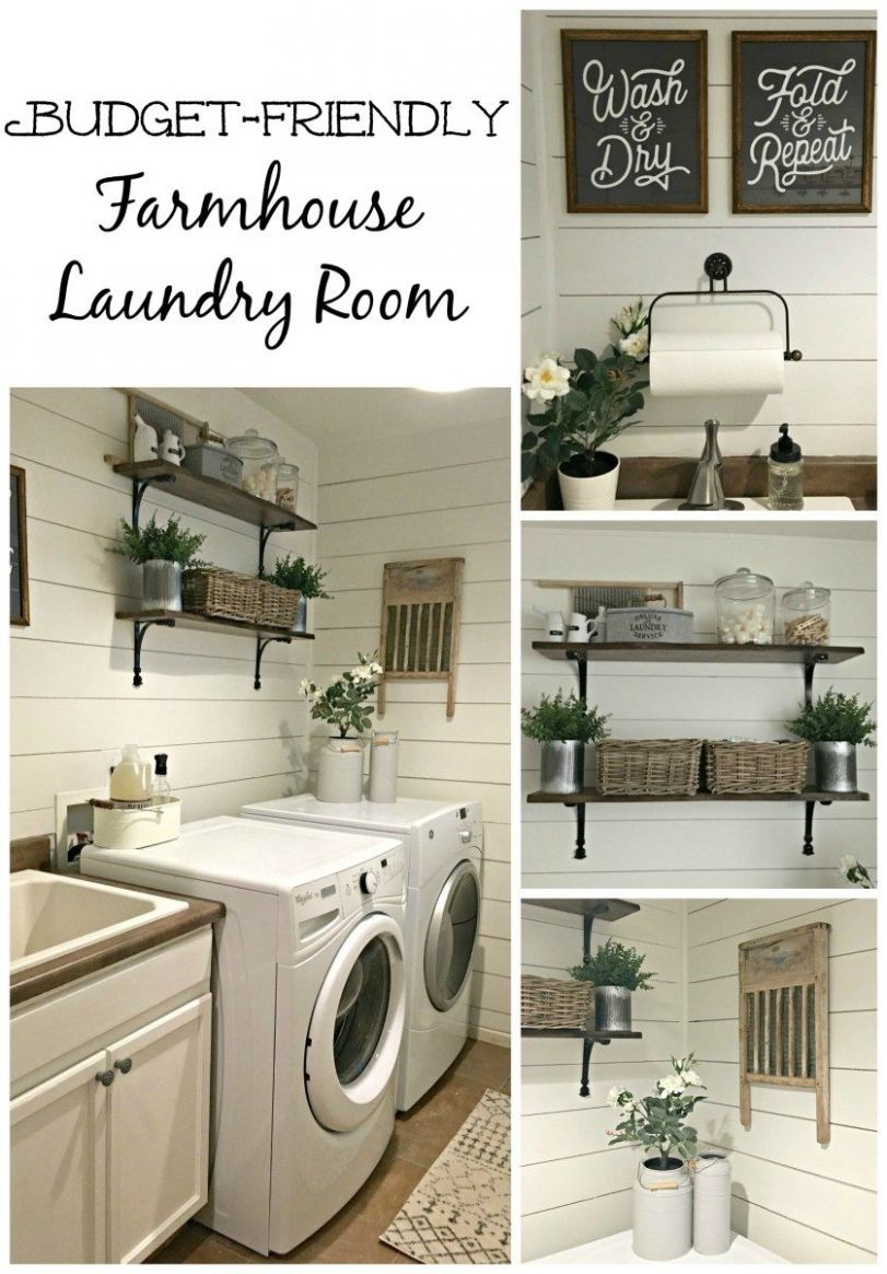 Rustic Laundry Room Reveal   Rustic laundry rooms, Laundry room ...