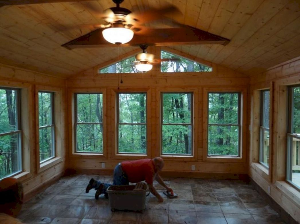 Rustic Sunroom Ideas 9 – DECOREDO - sunroom rustic ideas