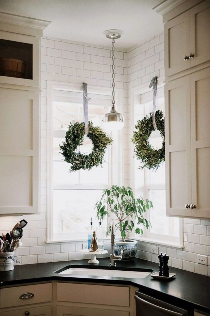 Scandinavian Holiday Decor | Corner sink kitchen, Home decor ...