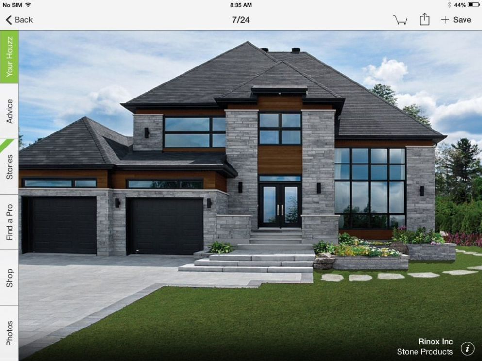 Scenery beautiful house   House exterior, Modern house exterior ...