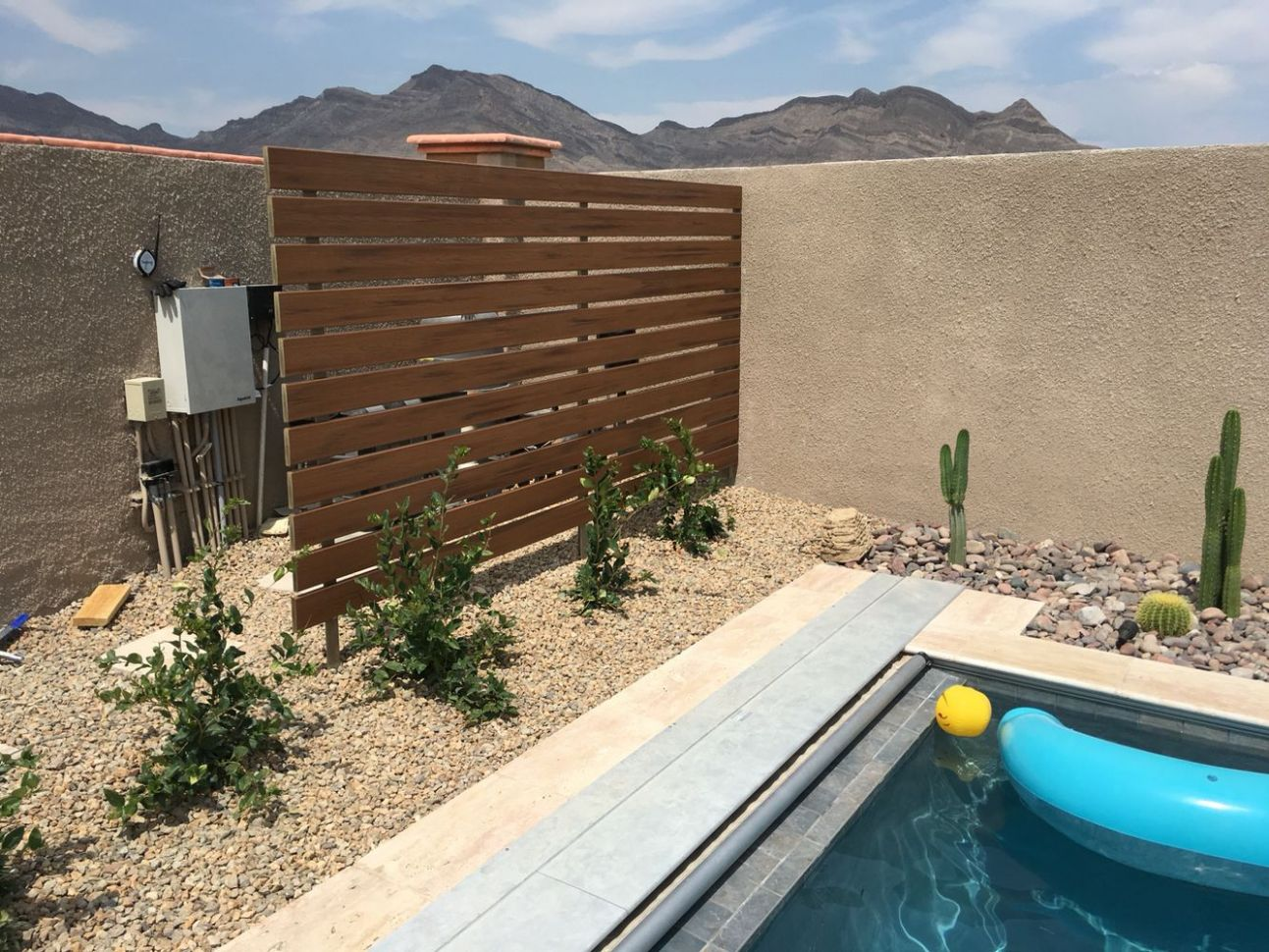 Screen/ partition to hide our pool equipment! Very pleased with ...