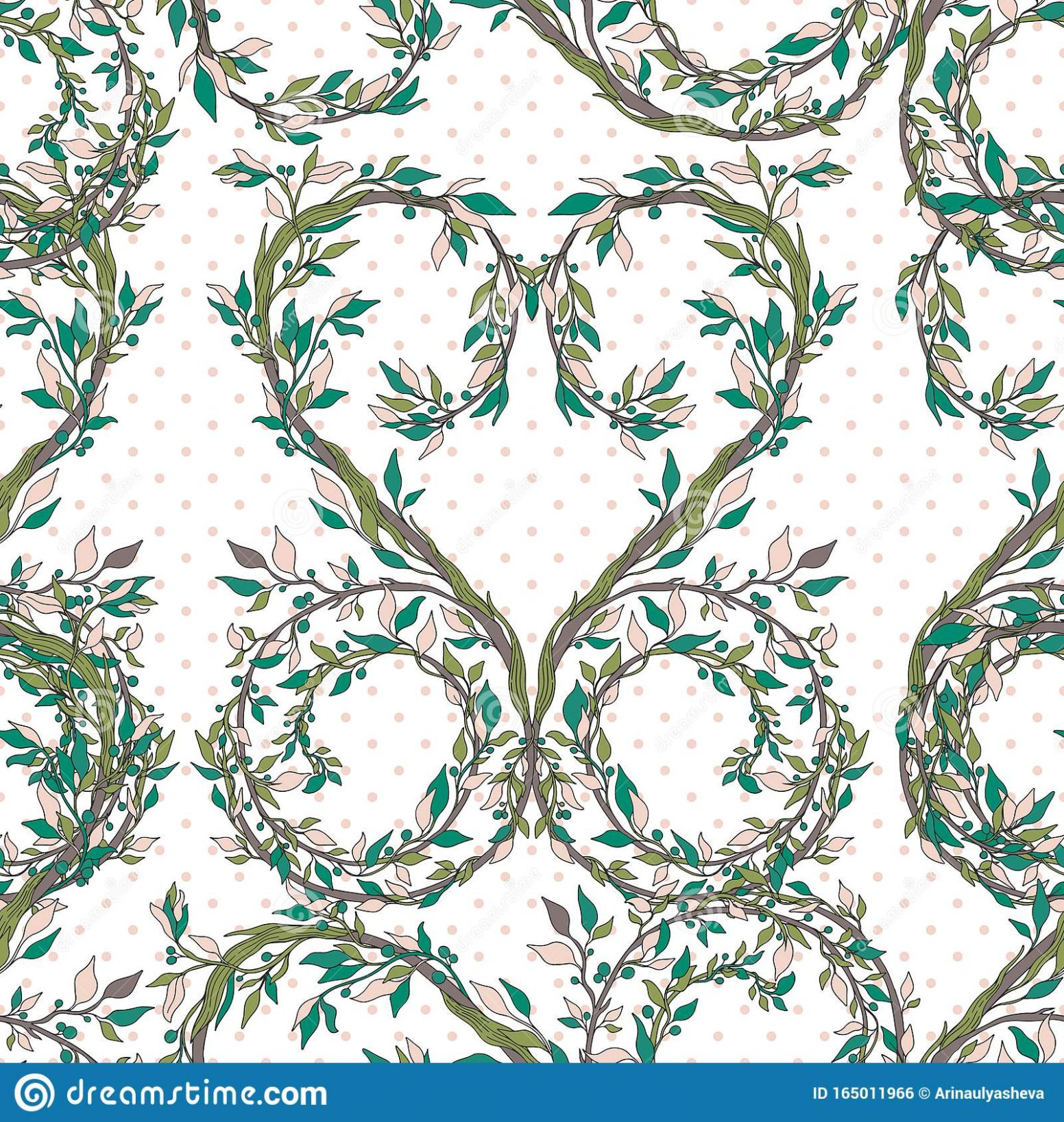 Seamless Pattern Nature Vintage Style.Floral Classic Ornament ..