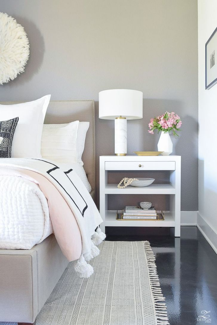 Shades of Pink Spring Bedroom Home Tour (With images) | Spring ..