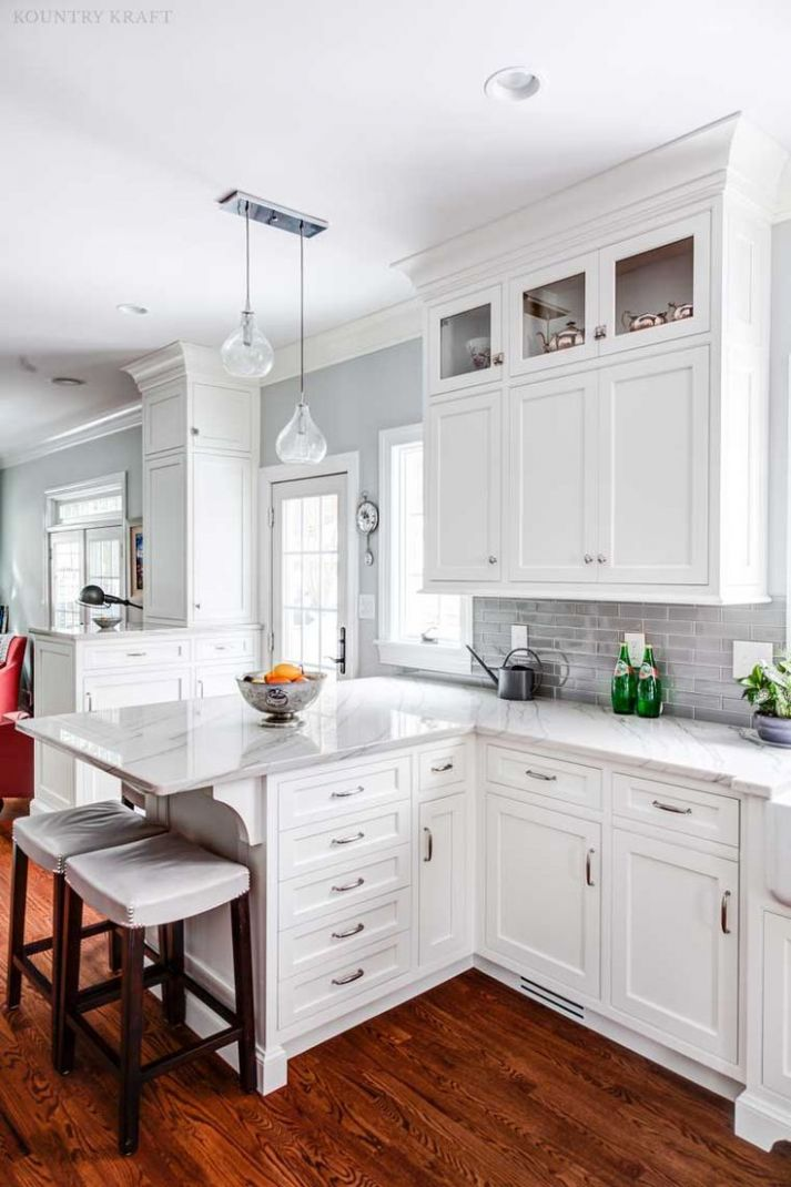 Shaker style with THIN borders and trimmed to ceiling (With images ..