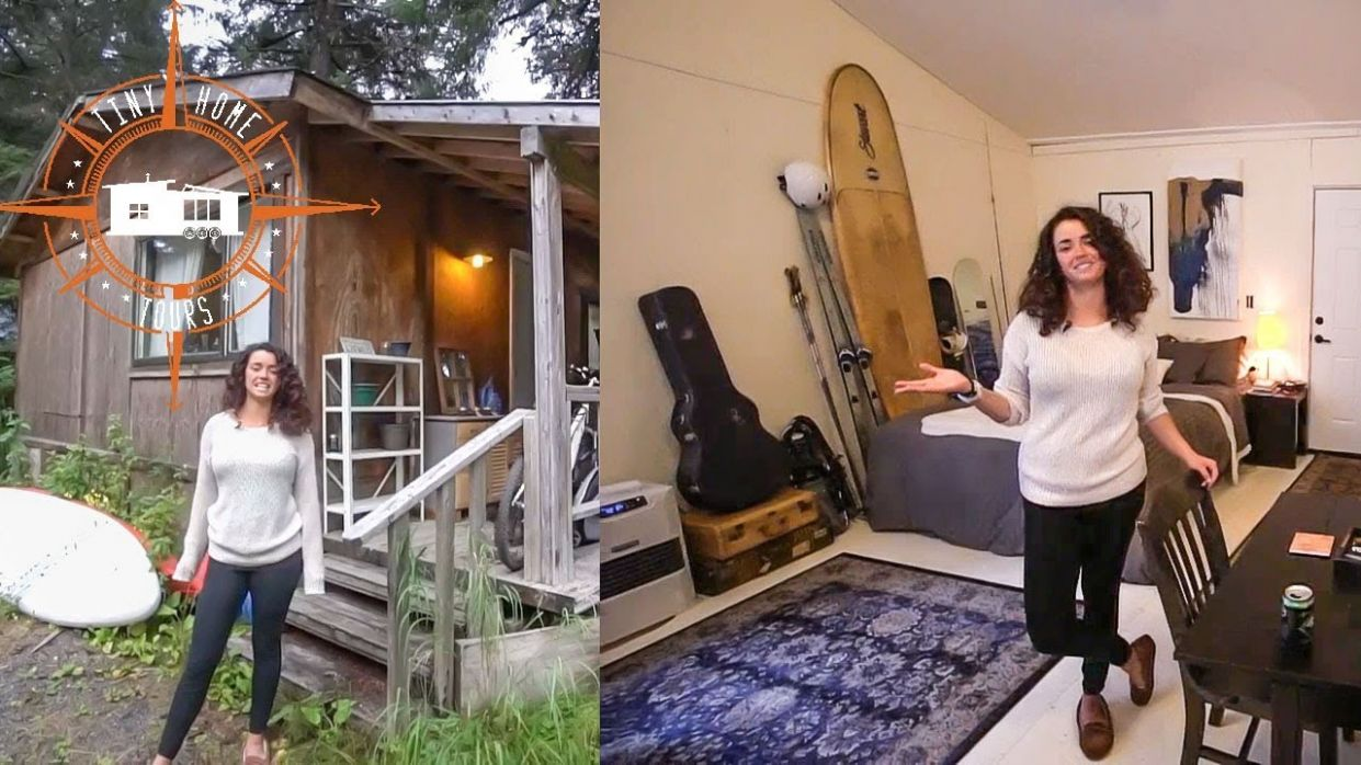 She Transformed An Alaska Dry Cabin Into Gorgeous Tiny House ~ Full Tour