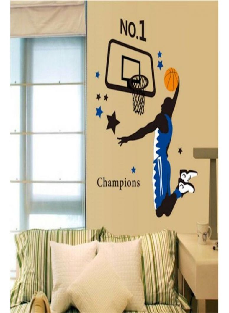 Shop Home Decor Wall Art Printer Removable Wall Sticker Sports ..