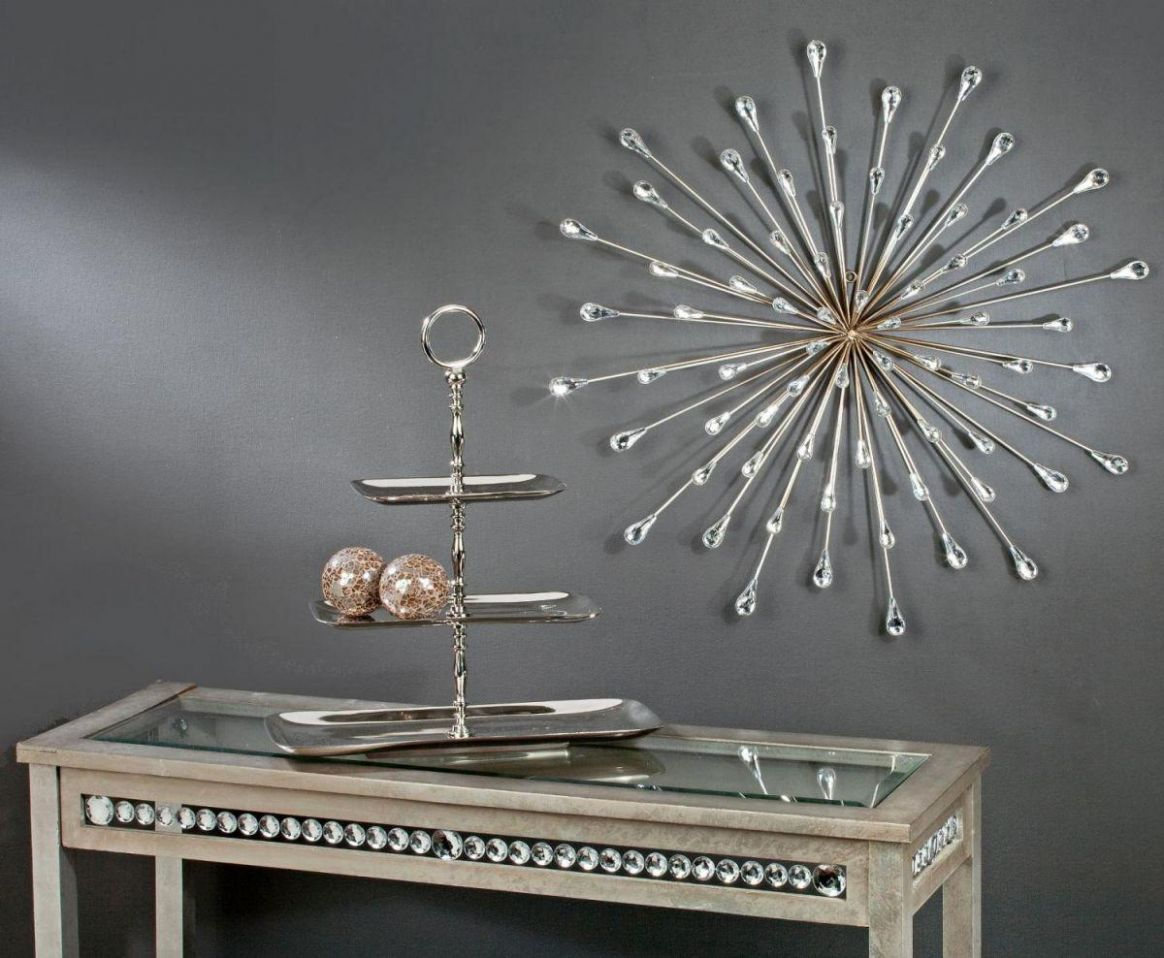 Silver Metal Wall Art — Home Inspirations : Elegant Silver Wall ..