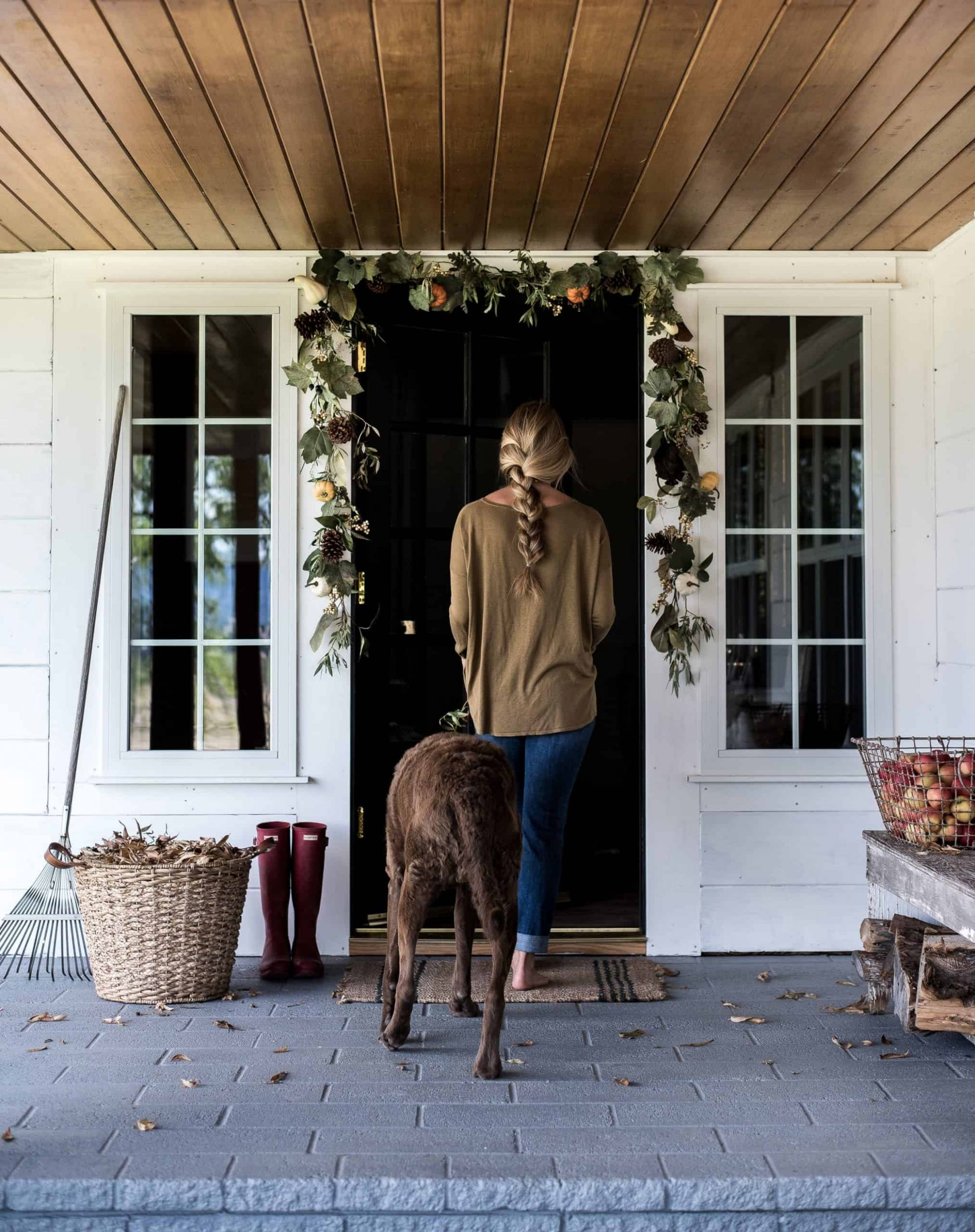 Simple Fall Decorating Ideas for your Front Porch - Boxwood Ave - front porch decor simple