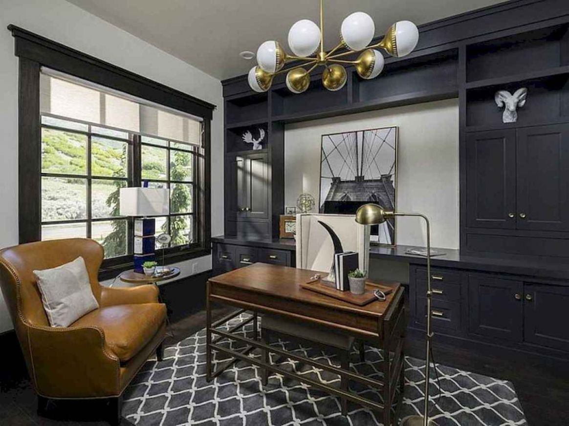Simple home office decor ideas for men (11) - Room a Holic