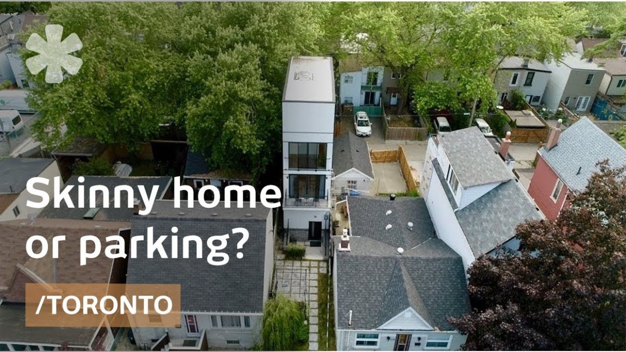 Skinny home in Toronto as prototype for parking-space homes? - tiny house toronto