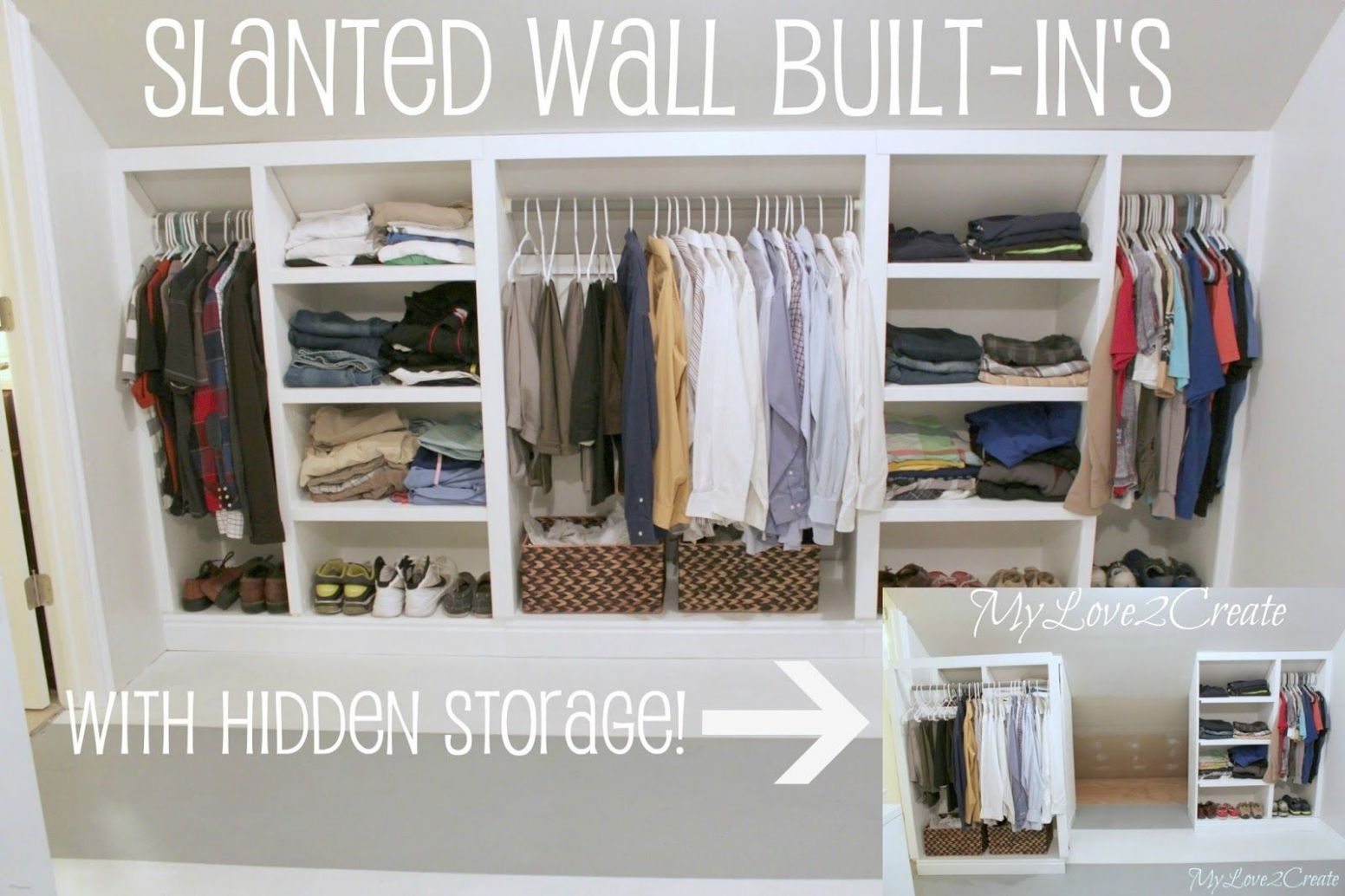 Slanted Wall Built-in's With Hidden Storage (With images ...