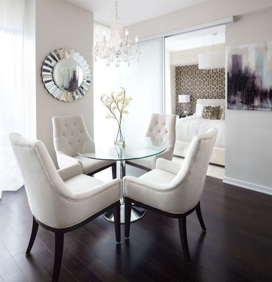 Small apartment design dining room contemporary with crystal ..