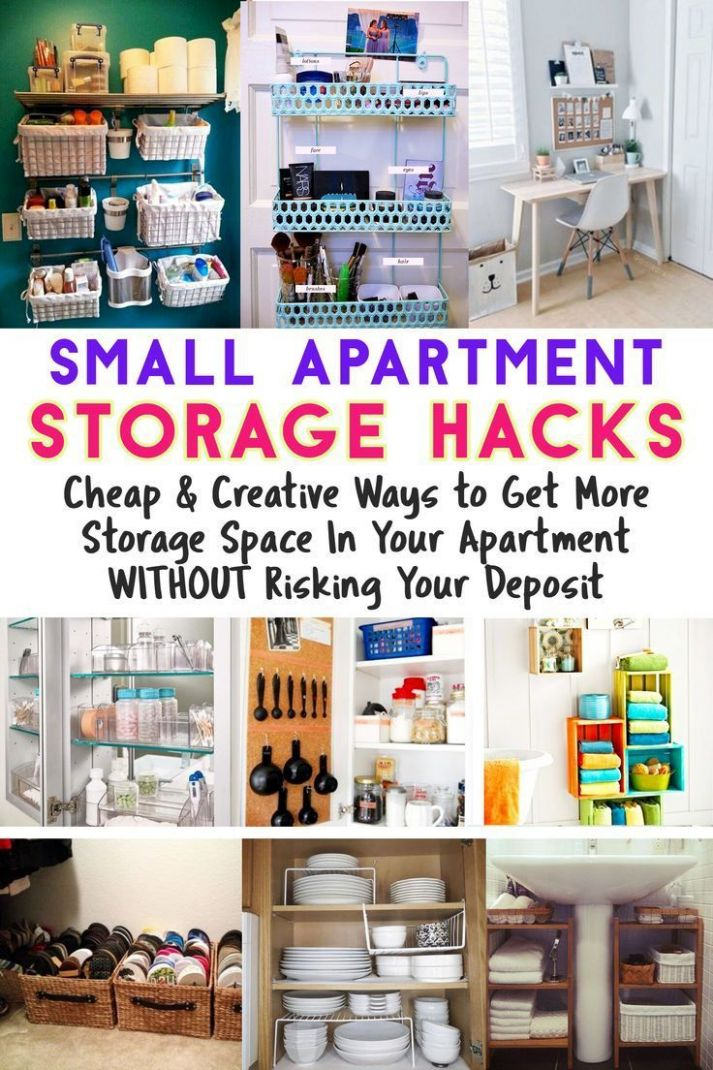 Small Apartment Storage Hacks – Cheap & Creative Ways to Get More ...