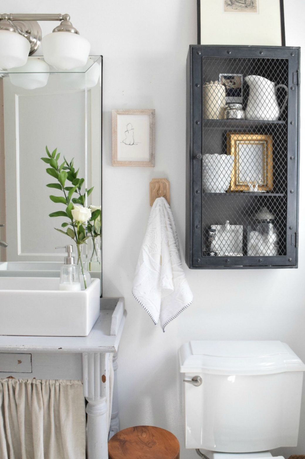 Small Bathroom Ideas and Solutions in our Tiny Cape - Nesting With ...