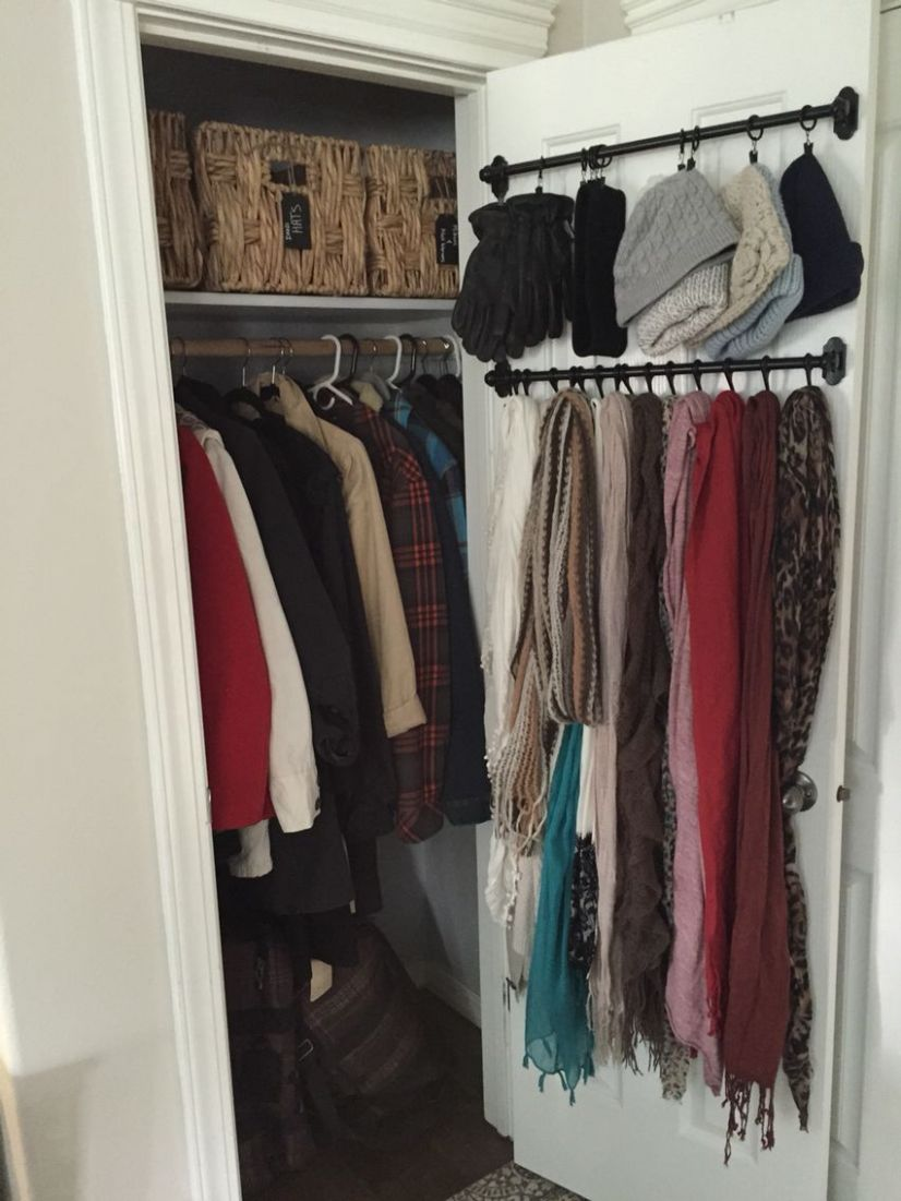 Small Coat Closet Organizing outerwear in a compact space. No ...