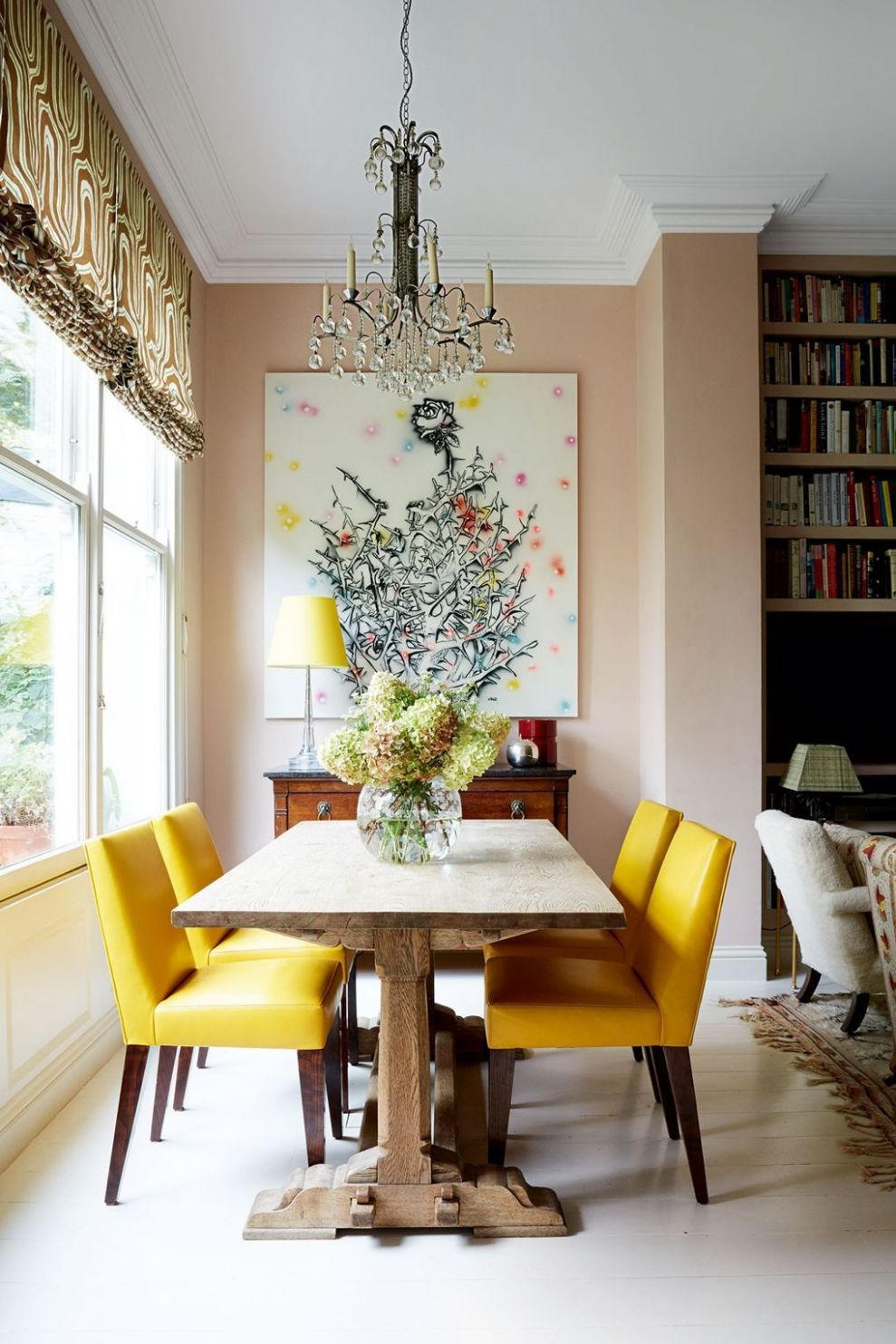 Small dining room ideas   Yellow dining room, Dining room small
