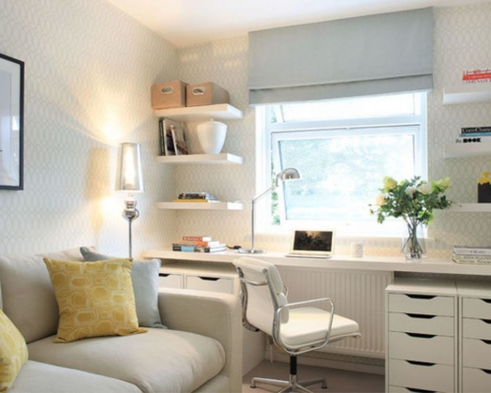 Small Home Office Guest Room | Guest bedroom office, Small guest ..