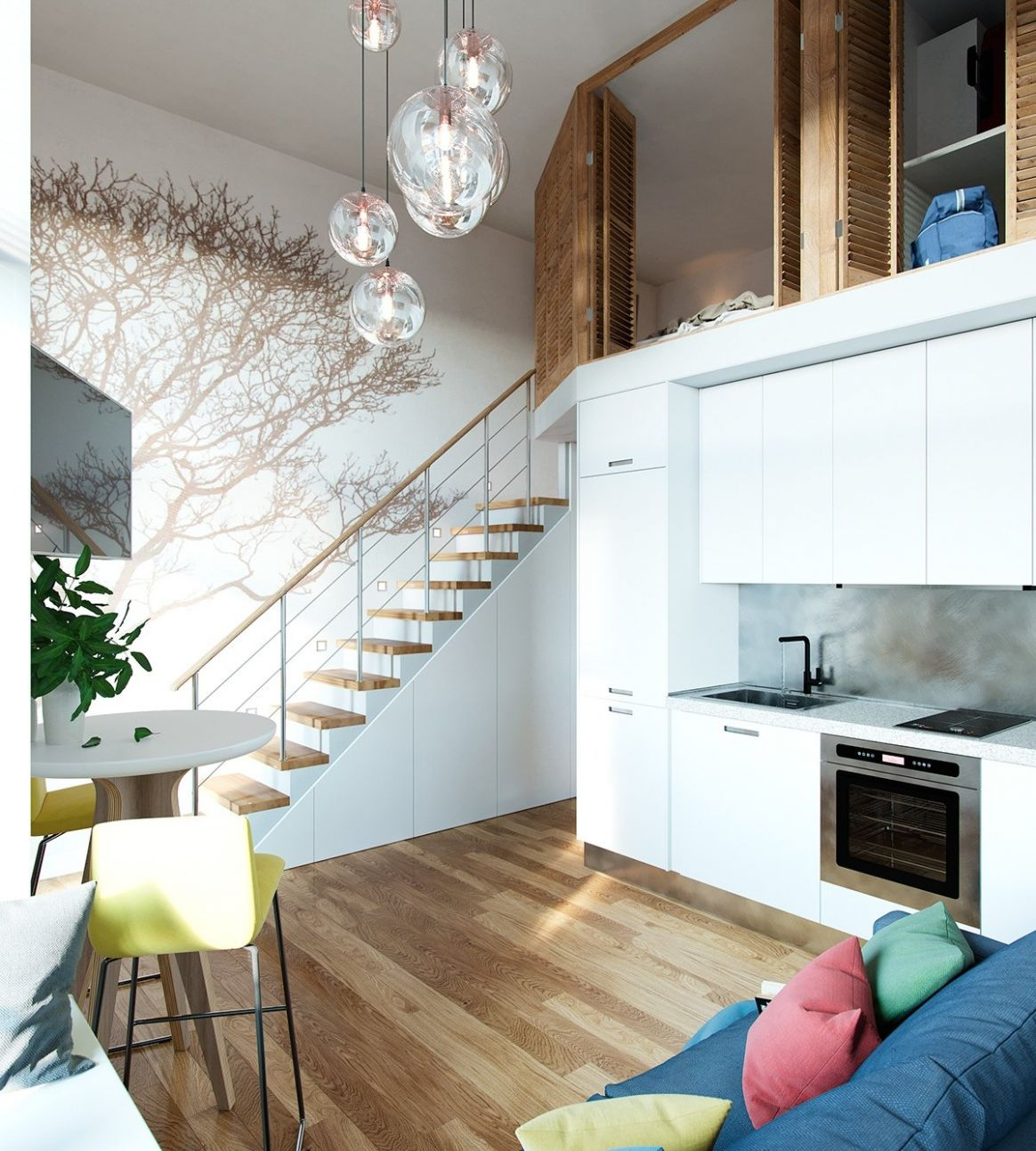 Small Homes That Use Lofts To Gain More Floor Space - apartment design with loft