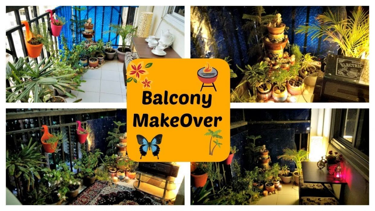Small Indian Balcony Makeover In Budget | Balcony Garden Tour & Decoration  | Indian Mom Studio