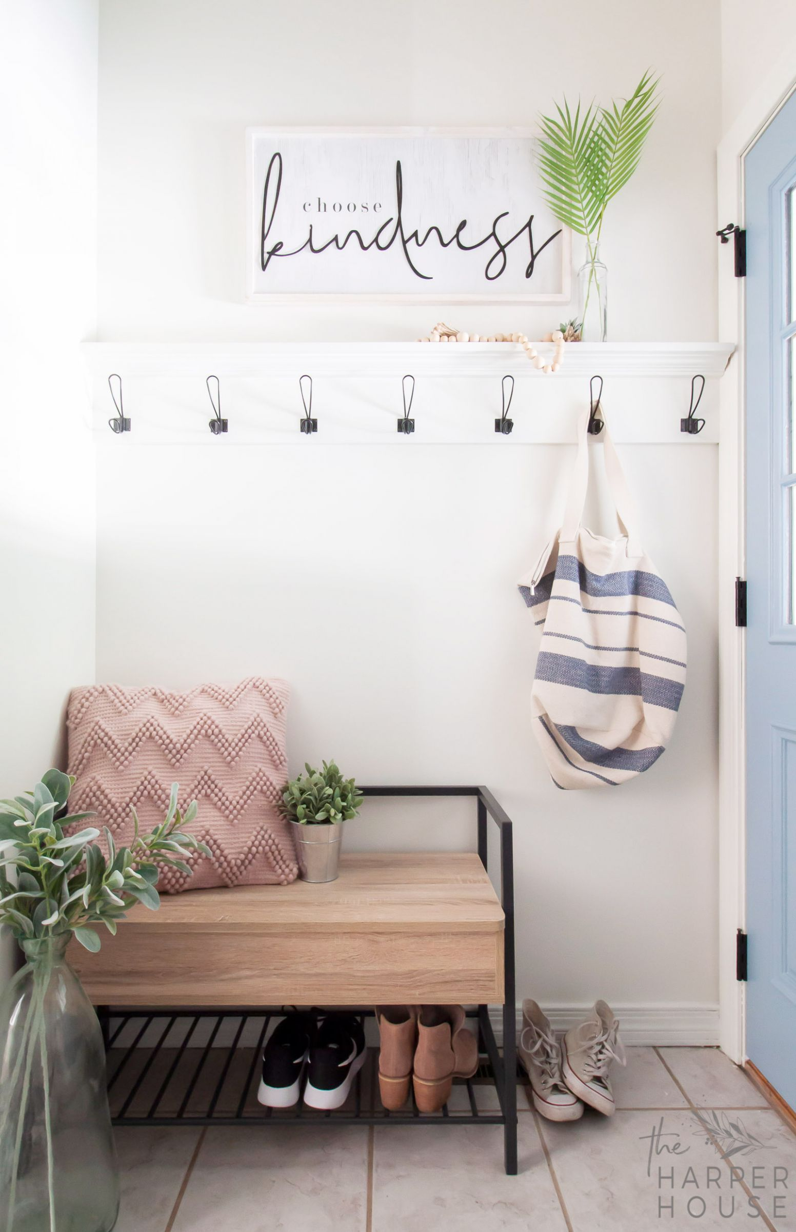 Small Laundry Room Ideas You Need To See | The Harper House - laundry room hook ideas