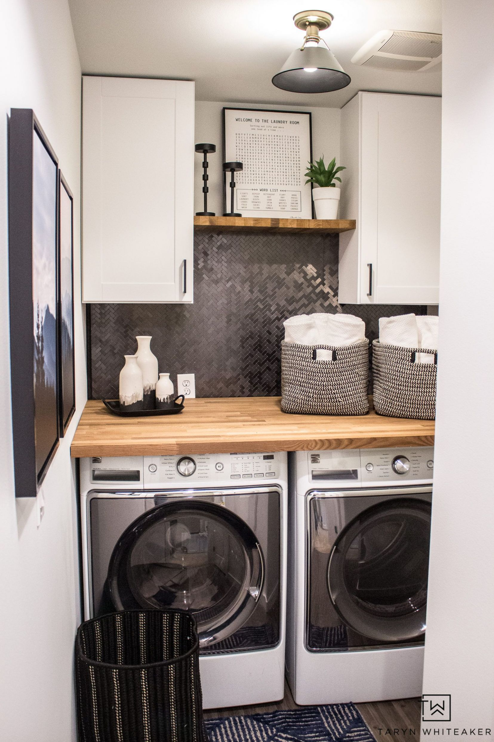 Small Laundry Room Makeover in 12 | Small laundry room makeover ..