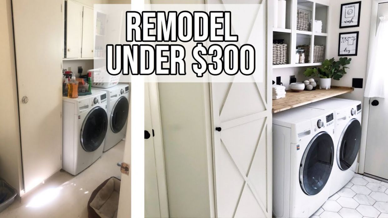 SMALL LAUNDRY ROOM MAKEOVER UNDER $12🧺