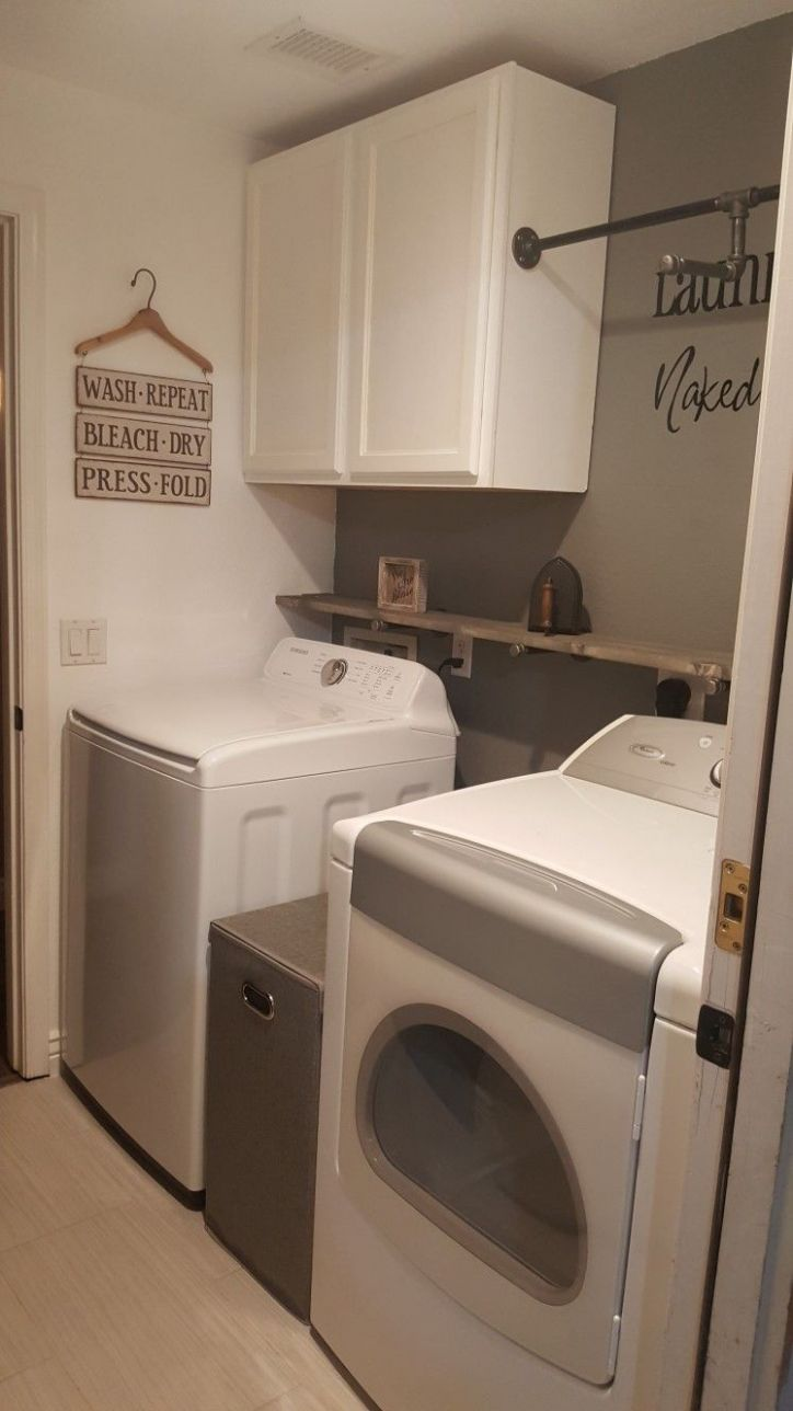 Small laundry room remodel | Vintage laundry room, Laundry room ...