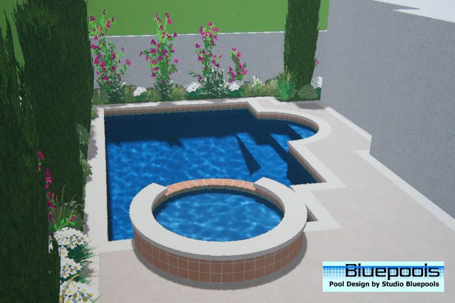 Small Pool Designs | small pool with spa (With images) | Small ..