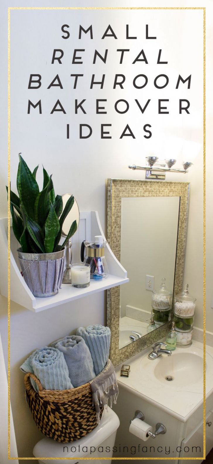 Small Rental Bathroom Makeover Ideas - Not a Passing Fancy Blog ..