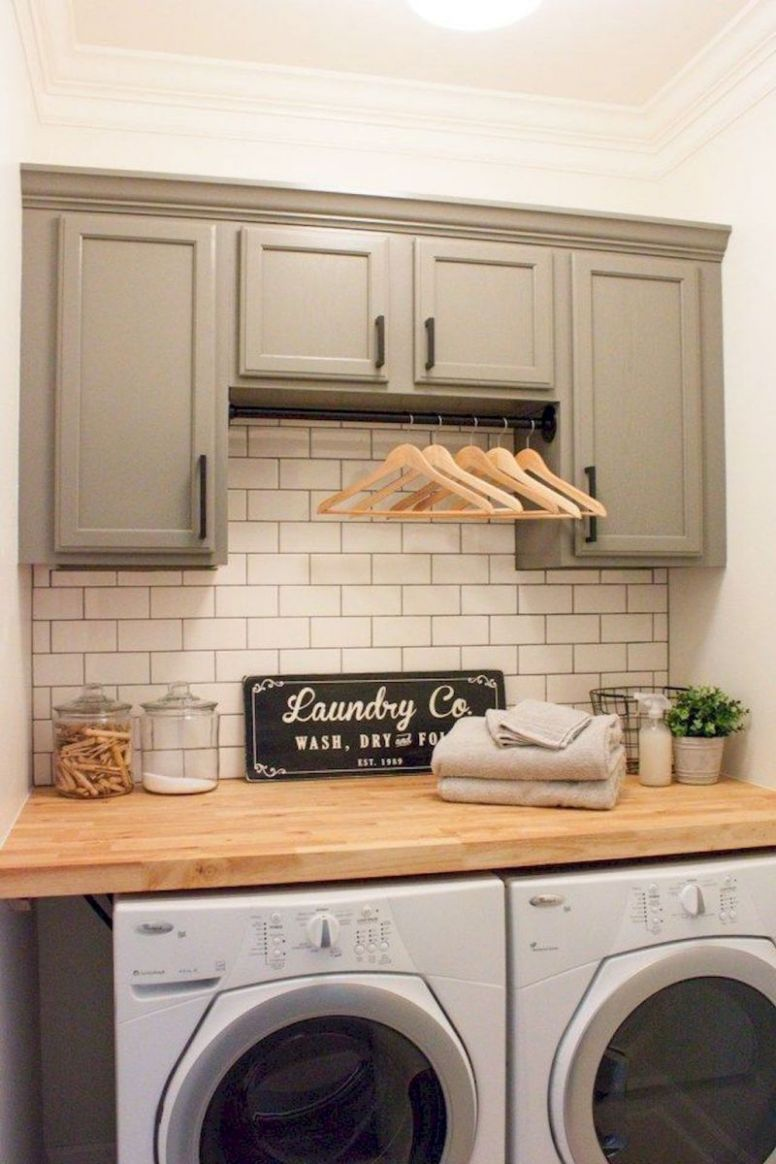 Small Space Laundry Room Design Ideas With Stackable Washer And ...