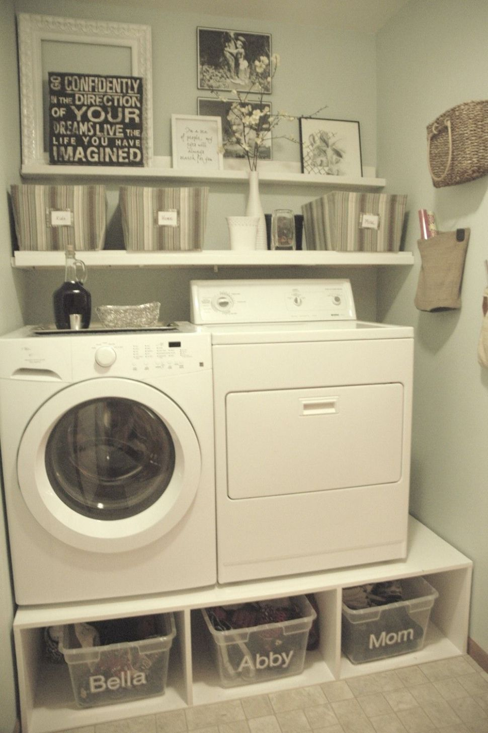 Small-Space Laundry Room Storage (With images) | Small laundry space - laundry room decor near me