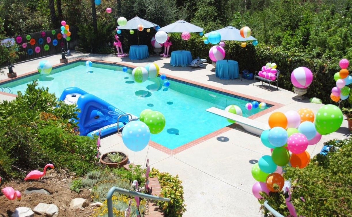 Sophisticated Whimsical Pink Flamingo Pool Party   Pool party kids ..